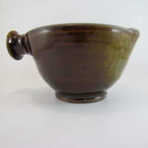 Large Mixing Bowl, Amber Glaze